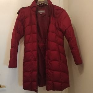Eddie Bauer M maroon winter jacket